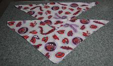 Buy Two Brand New Red Hat Design Dog Bandanas For Cocker Spaniel Rescue Charity