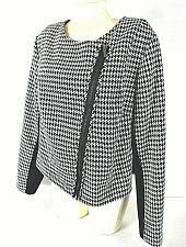 Buy Lane Bryant womens 20 L/S black white ASYMMETRICAL zipper lined jacket (B3)PMT
