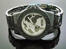 Buy King Master Round 12 Diamonds 50MM Black Case Watch