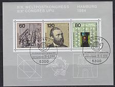 Buy GERMANY BUND [1984] MiNr 1215-17 Block 19 ( Sonder-O ) Post