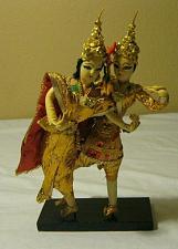 Buy Vintage Thai Classic Dancer Dolls on Wooden pedestal Thailand