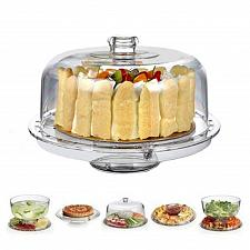 Buy HBlife Acrylic Cake Stand Multifunctional Serving Platter and Cake Plate With 6