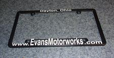 Buy Evans Motorworks Advertising License Plate Frame Dayton Ohio For Rescue Charity