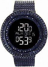Buy Men's KING MASTER 65.00ct Lab Made Diamond Watch Fully Iced Out black case