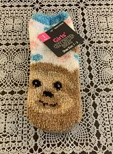 Buy Brand New Girls Shoe Size 7 to 3 Cozy Critter Fuzzy Bear Socks For Dog Charity