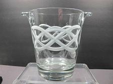 Buy Hand cut glass ice bucket Celtic Shamrock pattern