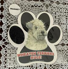 Buy Brand New Wheaten Terrier Paw Print Shaped Car Magnet For Dog Rescue Charity