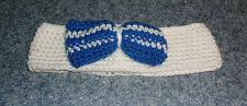 Buy Brand New Crocheted White and Blue Bow Tie Dog Collar LARGE 4 Dog Rescue Charity