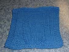 Buy Brand New Hand Knit Dachshund Dog Blue Dish Cloth For Dog Rescue Charity