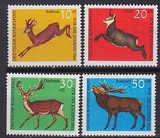 Buy GERMANY BUND [1966] MiNr 0511-14 ( **/mnh ) Tiere