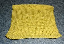 Buy Brand New Hand Knit Papillon Dog Yellow Cotton Dish Cloth 4 Dog Rescue Charity
