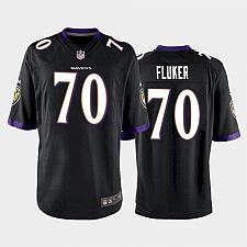 Buy Men's Baltimore Ravens D.J. Fluker Game Jersey - Black