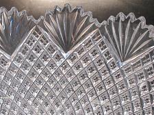 "Buy 10""American Brilliant Period Hand Cut Glass bowl strawberry diamond fan abp"