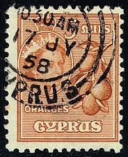Buy Cyprus #170 Oranges; Used (2Stars) |CYP0170-03XRS