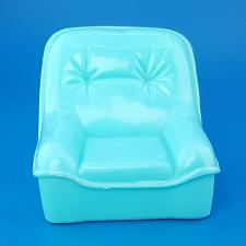 Buy Doll House Living Room Single Sofa Chair Blue Plastic Dollhouse Miniature