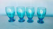 Buy Blue Water Glasses Goblets by Cristar 12 ounce footed glasses set of 12
