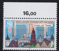 Buy GERMANY BUND [1994] MiNr 1721 F2,I ( **/mnh ) Plattenfehler