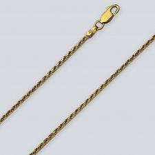 Buy Gold Plated .925 Silver Diamond Cut Rope Pendant Chain (2mm)