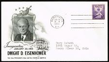 Buy Dwight D. Eisenhower Fleetwood Cachet Inauguration Day Cover |USACVRLOT-28XDP