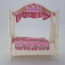 Buy Fisher Price Loving Family Girls Canopy Twin Bed R6068 Dollhouse Furniture 2009