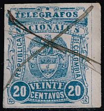 Buy Colombia Telegraph Stamp; Used (3Stars) |COLLOT-03XRS
