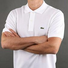 Buy Lacoste polo white two buttons