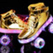 Buy 2020 New Flash Skates Adult Double-Row Pulley Shoes Men Women 4-Wheel PU Childre