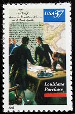 Buy 2003 37c Louisiana Purchase from France in 1803 Scott 3782 Mint F/VF NH