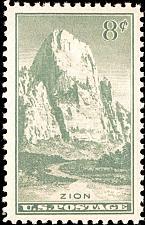 Buy 1934 8c Zion National Park, Utah Scott 747 Mint F/VF NH