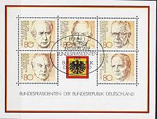 Buy GERMANY BUND [1982] MiNr 1156-60 Block 18 ( Sonder-O/used )