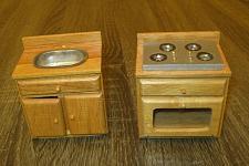 Buy Dollhouse Town Square Miniature Kitchen Stove & Sink 1:12