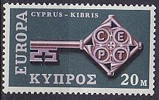 Buy ZYPERN CYPRUS [1968] MiNr 0307 ( **/mnh ) CEPT