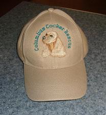 Buy Brand New Embroidered Buff Cocker Spaniel Hat Cap For Dog Rescue Charity