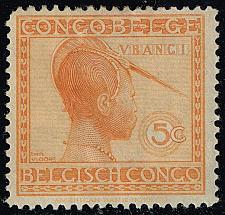 Buy Belgian Congo #88 Ubangi Woman; Unused (2Stars)  BCO088-05XRS