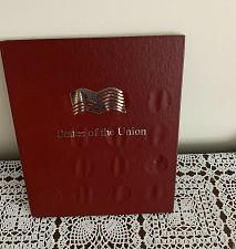 Buy Vintage Shell States of the Union Collector Coins Folder Book 12 Coins Tokens