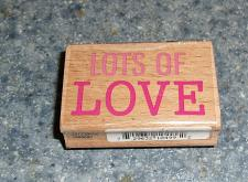 Buy Brand New Valentines Day Rubber Stamp LOTS OF LOVE Design For Dog Rescue Charity