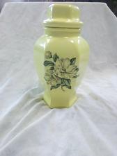 Buy Vintage Ceramic Yellow Lidded Magnolia Vase
