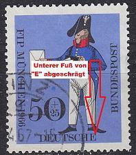 Buy GERMANY BUND [1966] MiNr 0517 F35 ( O/used ) [01] Plattenfehler