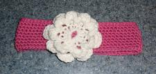 Buy Brand New Crocheted Pink and White Flower Design Dog Collar LARGE 4 Dog Rescue