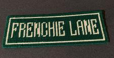 Buy Brand New Needlepoint Street Sign Frenchie Lane French Bulldog 4 Rescue Charity