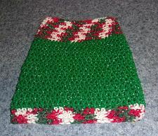 Buy Brand New Hand Crocheted Glitter Red Green White Dog Snood Neck Warmer 4 Charity