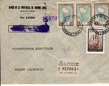 Buy ARGENTINA - REGISTERED COVER TO GERMANY FDC7094