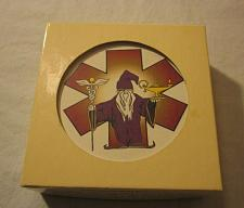Buy Wizard WaterWick Absorbent Stoneware Drink Coasters Set of 4 NEW