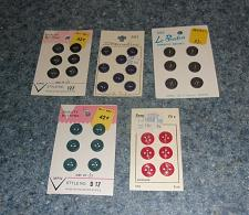 Buy Five Brand New Sets of Buttons Vintage Kmart For Cocker Spaniel Rescue Charity