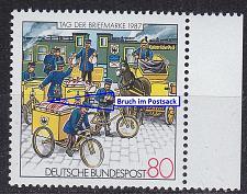 Buy GERMANY BUND [1987] MiNr 1337 F20 ( **/mnh ) [01] Plattenfehler