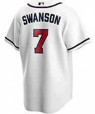 Buy Men's Dansby Swanson White Atlanta Braves Home 2020 Replica Player Jersey