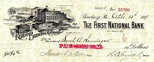 Buy October 23, 1919 The Reading Brewing Company Standard Beer Bank Check Draft, PA