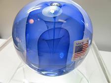 Buy Art glass blue veiled paperweight, Lenox crystal
