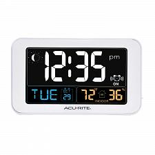 Buy AcuRite Intelli-Time Alarm Clock with USB Charger, Indoor Temperature and