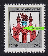 Buy GERMANY DDR [1985] MiNr 2934 f30 ( **/mnh ) Plattenfehler
